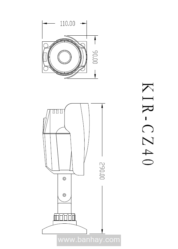 Weatherproof HD-IP Camera (KIP-CZ40N), IP Camera, HD